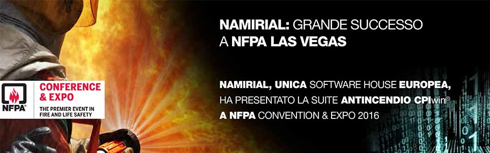 Namirial Antincendio a NFPA - Las Vegas World Convention on Fire and Life Safety